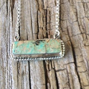 Navajo Royston Turquoise & Sterling Necklace